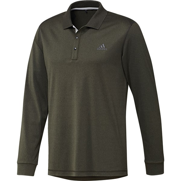 adidas Mens Thermal Long Sleeve Polo