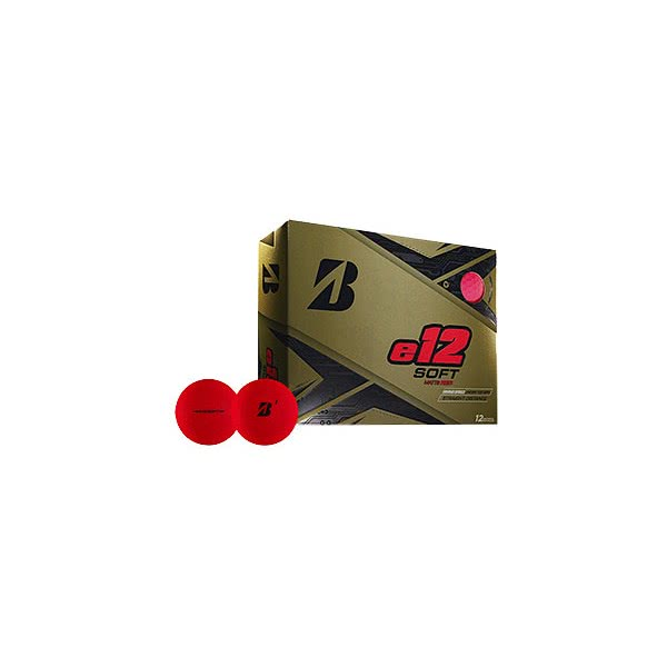 Bridgestone e12 Soft Matt Red Golf Balls (12 Balls)