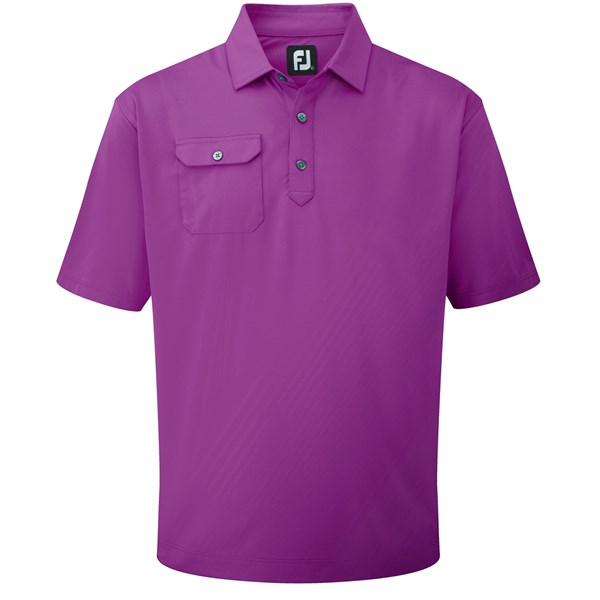 FootJoy Mens Stretch Lisle Chest Pocket Polo Shirt