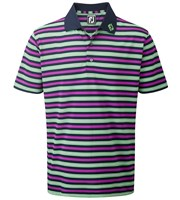 FootJoy Mens Stretch Pique Medium Stripe Polo Shirt