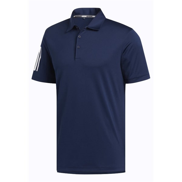 adidas Mens 3 Stripe Basic Polo Shirt 2021