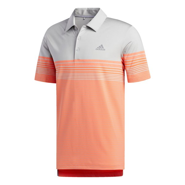 adidas Mens Ultimate Gradient Block Stripe Polo Shirt (Logo on Chest)