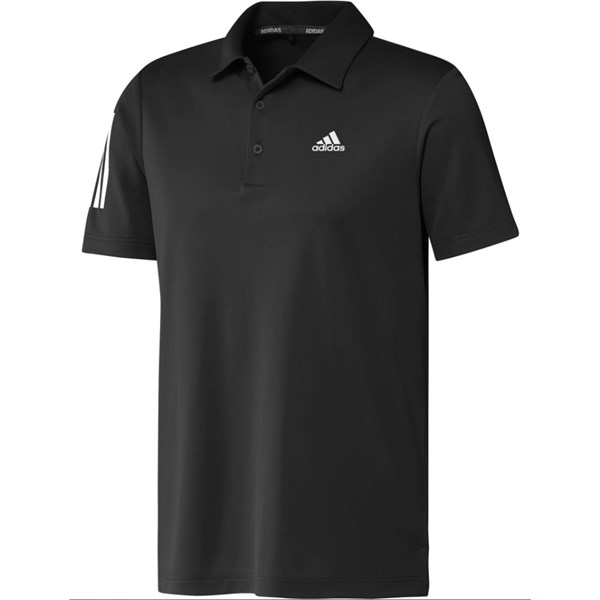 adidas Mens 3-Stripe Basic Polo Shirt