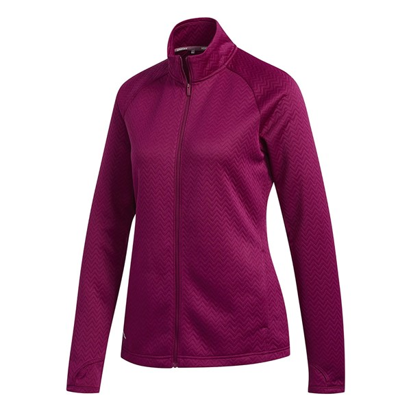 adidas Ladies Textured Full Zip Layer Top