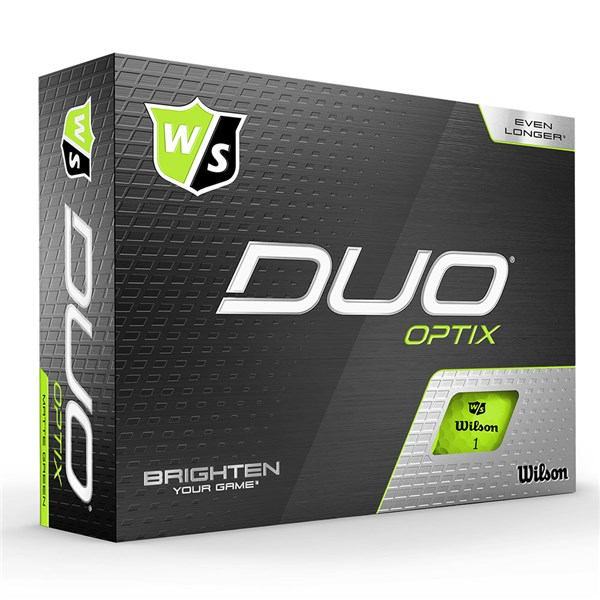 Wilson Duo Optix Green Golf Balls (12 Balls)