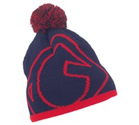 Galvin Green Ben Knitted Bobble Hat (Blue/Red)