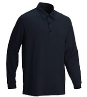 Greg Norman Mens Jacquard Long Sleeve Polo Shirt