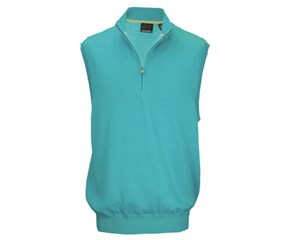 Greg Norman Mens Lined Pima Zip Vest