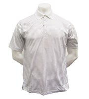 Greg Norman Mens Mini Check Printed Polo Shirt