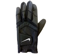 Nike Mens Dura Feel VIII Leather Gloves 2015 (Black/Metallic Silver)