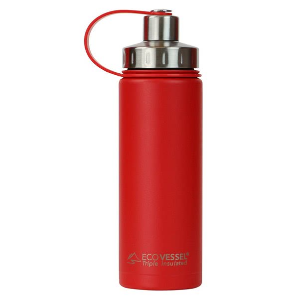 Ecovessel The Boulder Insulated Water Bottle with Strainer