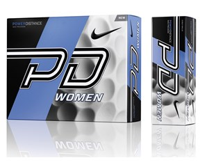 Nike Ladies Power Distance PD9 White Golf Balls  12 Balls