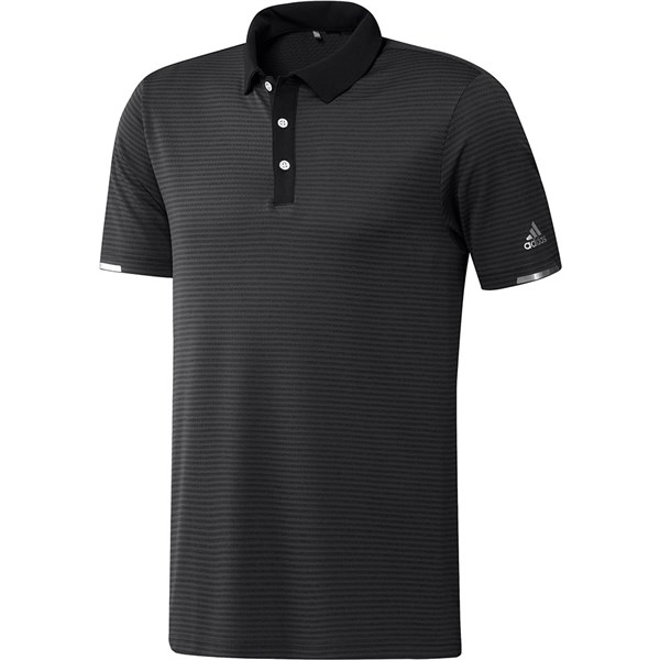 adidas Mens Heat.RDY Microstripe Polo Shirt