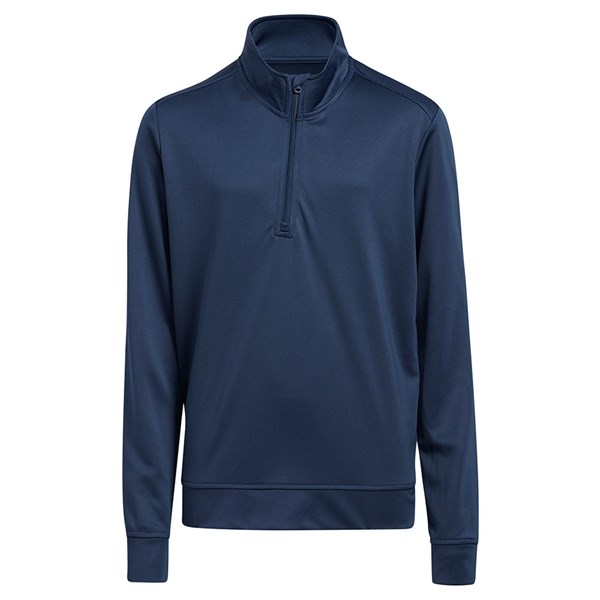 adidas Boys Quarter Zip Solid Pullover Top