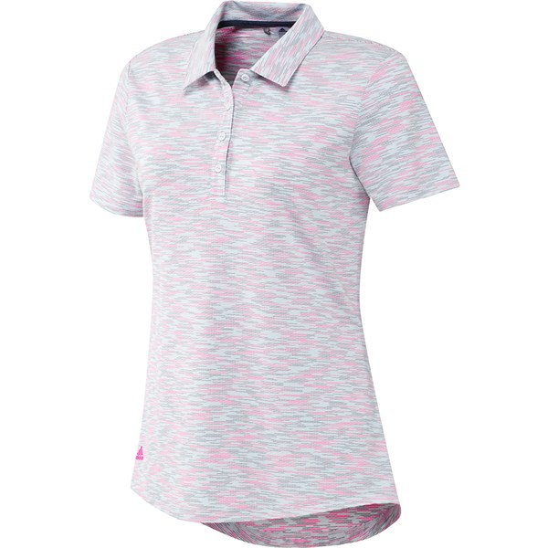 adidas Ladies Spacedye Short Sleeve Polo Shirt