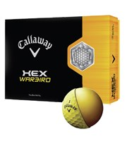 Callaway Hex Warbird Yellow Golf Balls  12 Balls