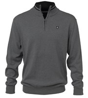 Island Green Mens Knitted Half Zip Funnel Neck Sweater