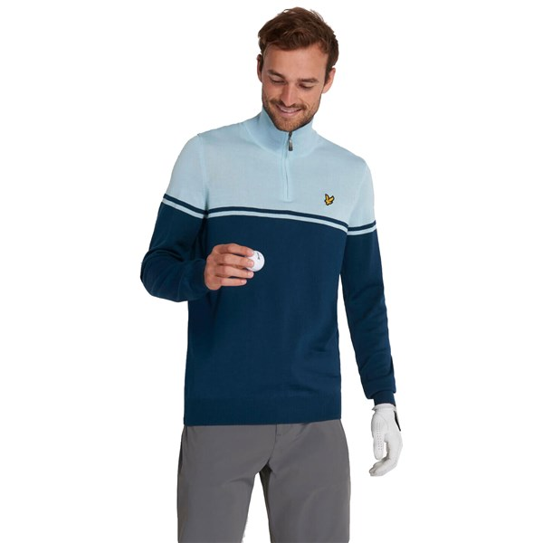 Lyle and Scott Mens Croft Quarter Zip Pullover Top
