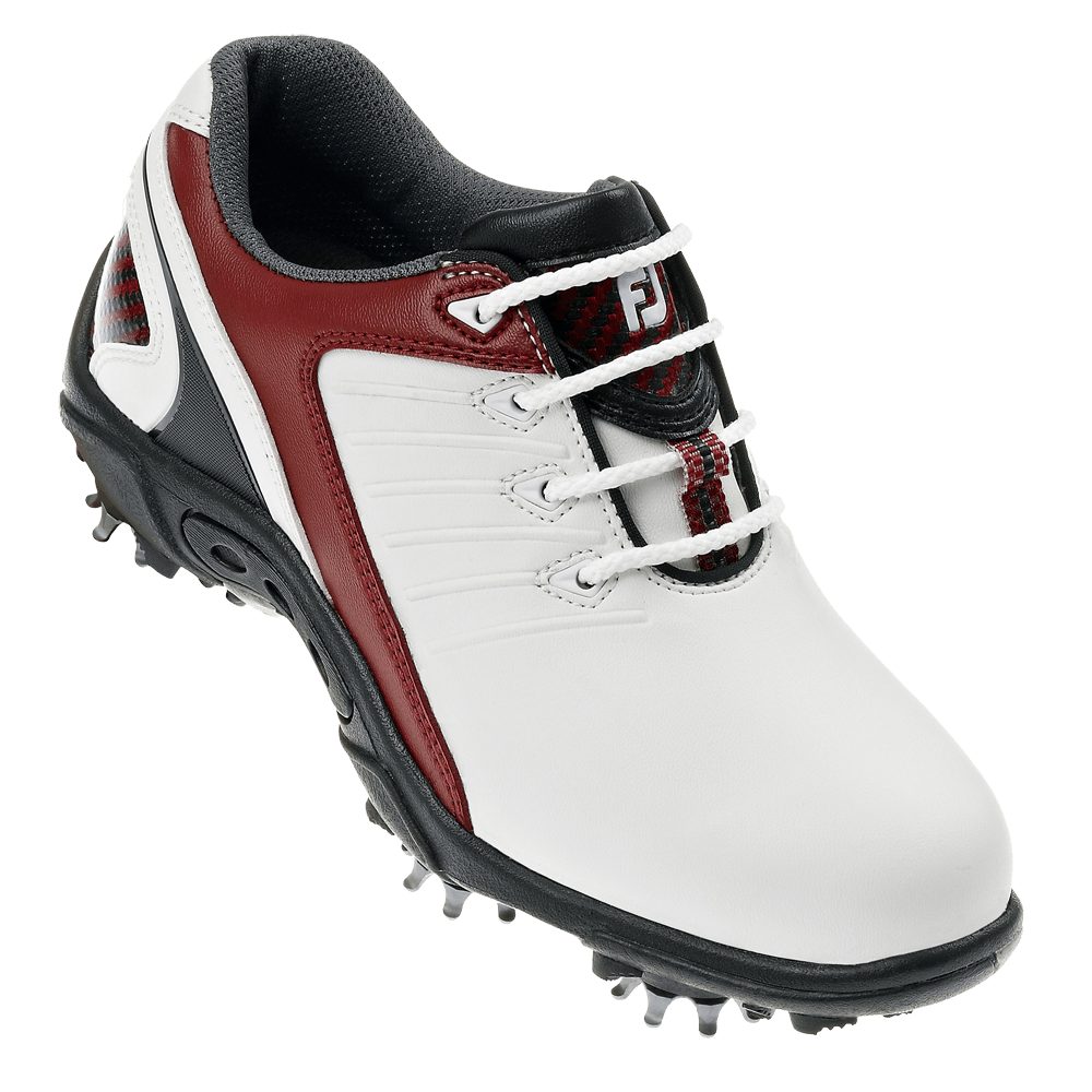 Red And White Footjoy Golf Shoes