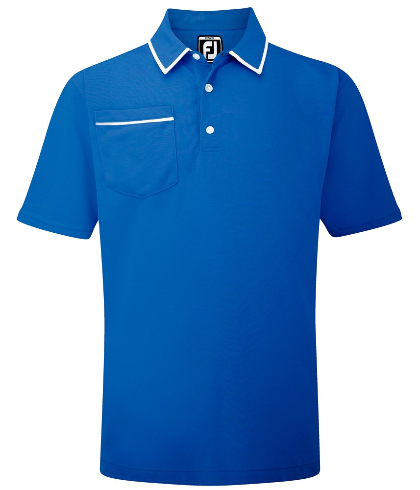 Footjoy boys solid jersey pocket contrast polo shirt for Polo t shirts with pocket online