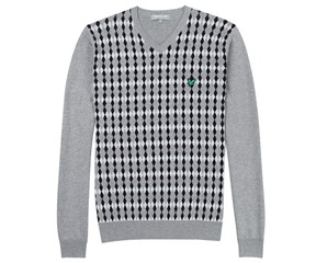 Lyle and Scott Mens Argyle V-Neck Sweater