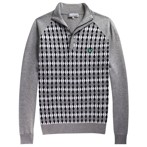 Lyle and Scott Mens Club Argyle Half-Zip Sweater 2012