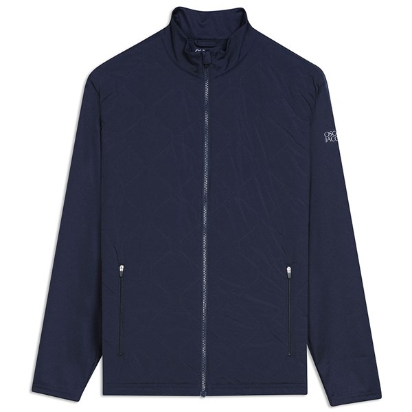 Oscar Jacobson Mens Keith Pin Hybrid Jacket