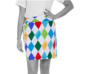 Royal And Awesome Ladies King of Diamonds Golf Skort