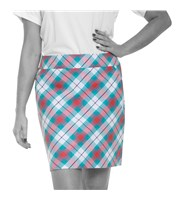 Royal And Awesome Ladies Well Plaid Tartan Golf Skort