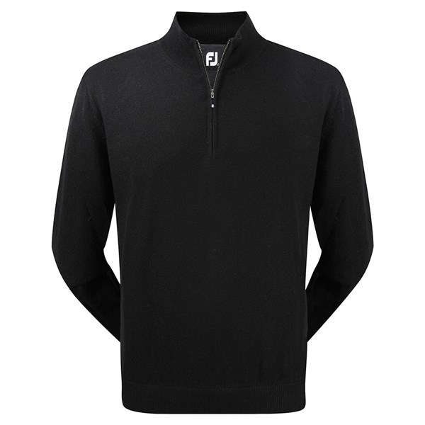 FootJoy Mens Lambswool Half Zip Pullover