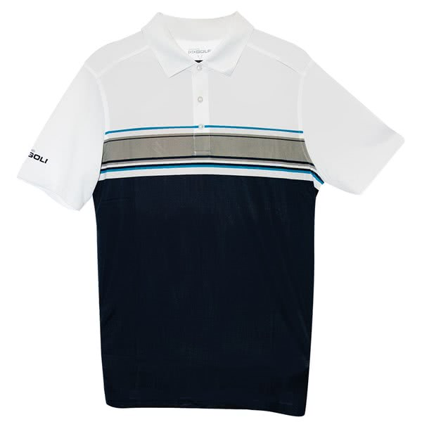 Skechers Mens GoGolf Links Stripe Polo Shirt