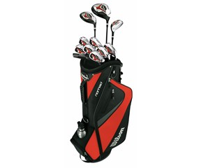 Wilson Mens Linear XD Golf Package Set 1 Inch Longer  Graphite Shaft