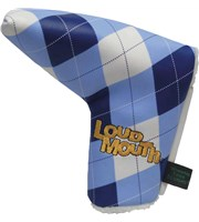 Winning Edge Loudmouth Blue and White Putter HeadCover