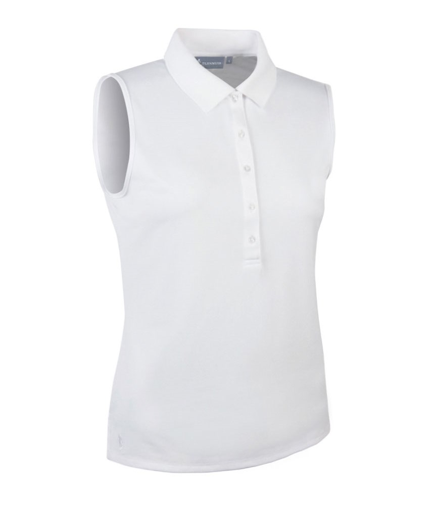 Glenmuir ladies jenna sleeveless polo shirt golfonline for Ladies sleeveless golf polo shirts