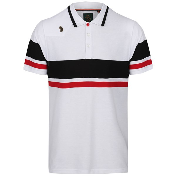 Luke Sport Mens Newtown Stripe Short Sleeve Polo Shirt