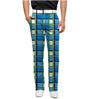 LOUDMOUTH Mens Blueberry Pie Golf Trouser