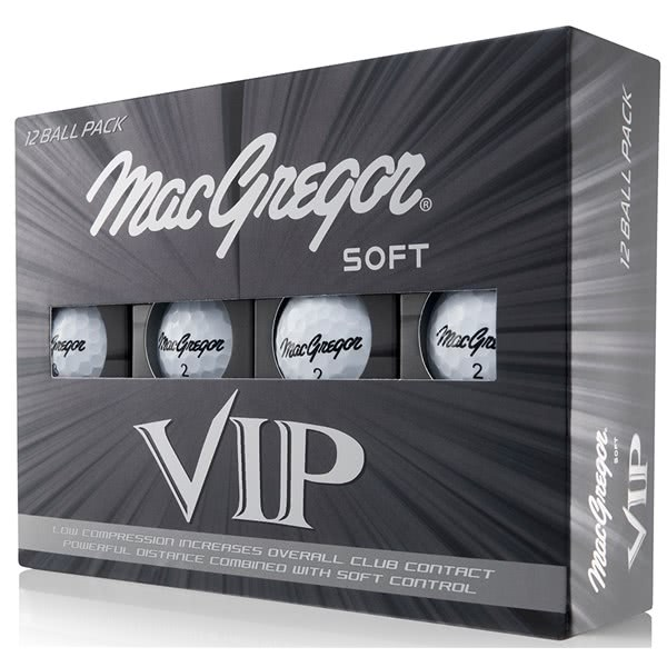 MacGregor VIP Soft White Golf Balls