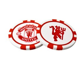 Manchester United Poker Chip Ball Marker Set