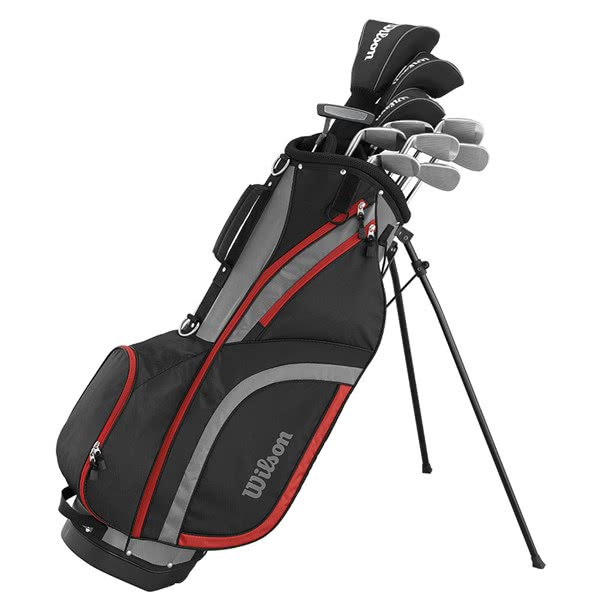 Wilson Mens Matrix Golf Package Set (Steel/Graphite) 1 Inch Longer