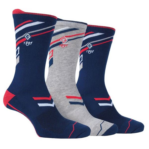 Glenmuir Mens Ryan Jacquard Stripe Socks Gift Box (3 Pairs)