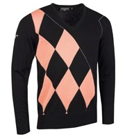 Glenmuir Mens V Neck Offset Diamond Argyle Sweater