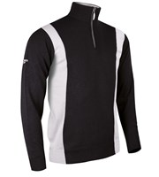 Glenmuir Mens Zip Neck Colour Block Golf Sweater