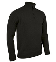 Glenmuir Mens Coll Zip Neck Lambswool Golf Sweater