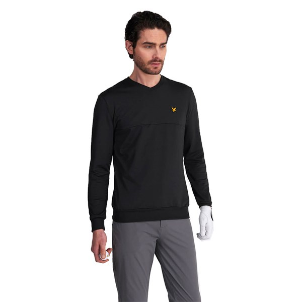 Lyle and Scott Mens V-Neck Colour Block Pullover Top