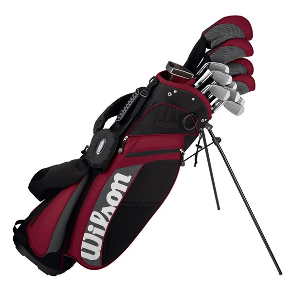 Wilson MOI Complete Golf Package Set 1 Inch Longer (Steel/Graphite)