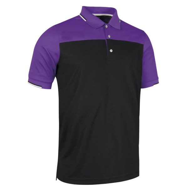Glenmuir Mens Fredrick Colour Block Polo Shirt