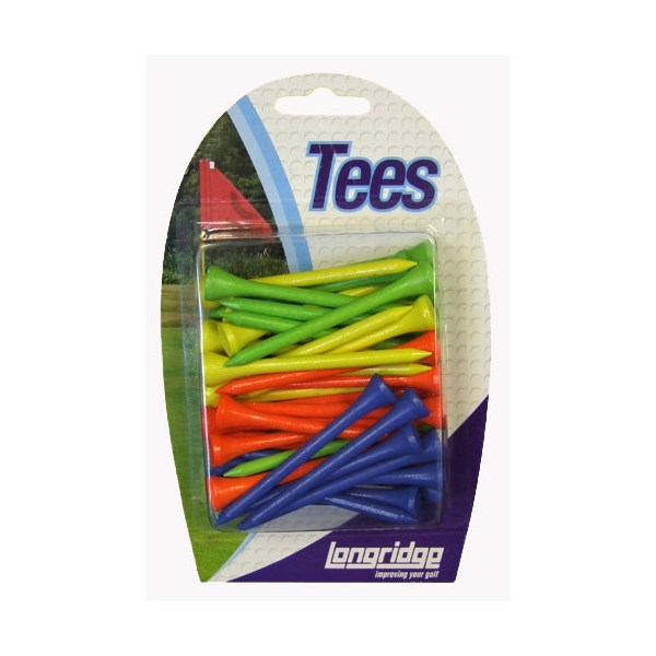 Neon Wooden Tees (40 Pack)