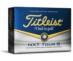 Titleist NXT Tour S White Golf Balls  12 Balls
