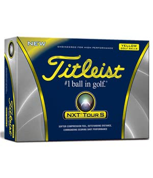 Titleist NXT Tour S Yellow Golf Balls (12 Balls)