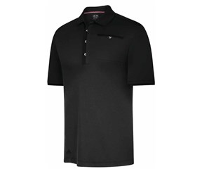 Adidas Mens adiPure Front Pocket Woven Polo Shirt